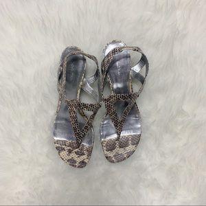 | Calvin Klein snake print sandal |
